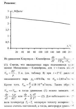 Готовые решения задач по физике. Насыщенные пары и жидкости № 3