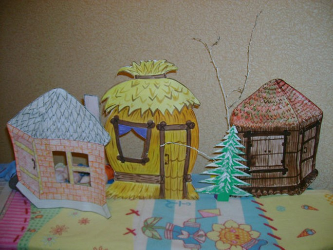 Поделка три поросенка домики