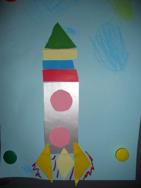 Ракета аппликация для детей